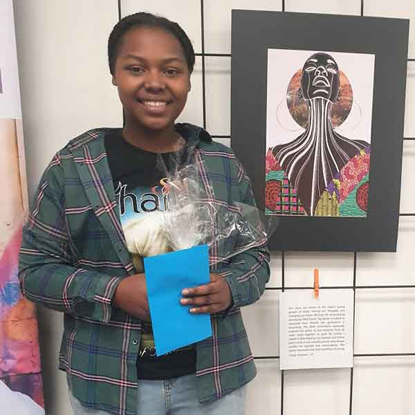 Winner of the SA Youth Week art competition, Faraja, 17