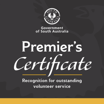 Image of the Premier's Certificate of Recognition