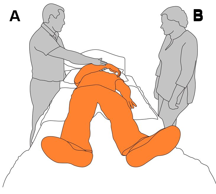 1. Prepare client's arm for roll