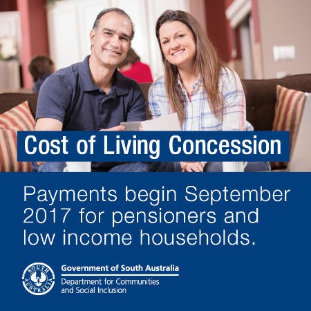 Advertisement for the Living Concession payments