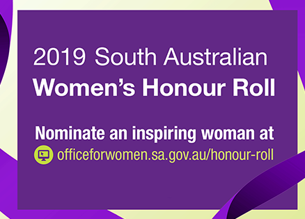 SA Women's Honour Roll 2019 - Nominate an inspiring woman