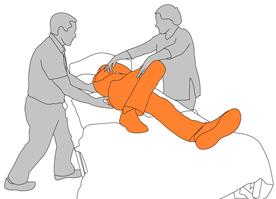3. Staff position hands to commence roll