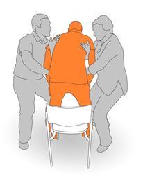 7. Assist client to sit.