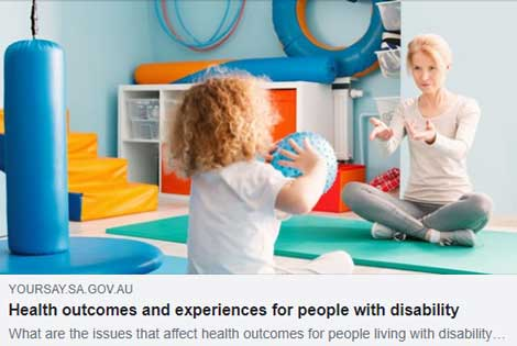 YourSay.gov.au - Health outcomes and experiences for people with disability. What are the issues that affect health outcomes for people living with disability…