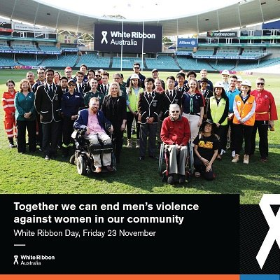 Together we can end men's violence against women in our community.