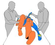 4. Prepare sling for attachment to portable hoist