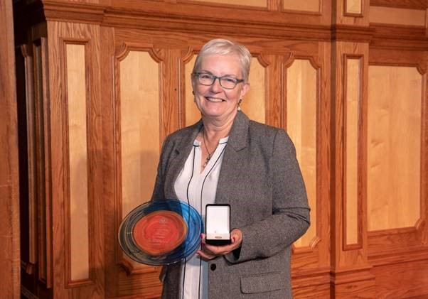 Jill Chapman, winner of the 2019 Joy Nobel Medal