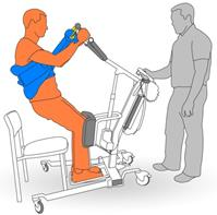 6. Raise client to standing position.