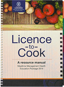 Cover of the Licence to Cook resource manual on dysphagia and mealtime management
