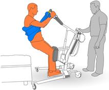 8. Lower client with stand lifter.