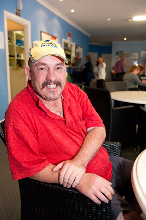 Man who is utilising Hutt St Services during Homelessness Week 2017